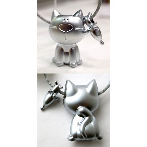 (メール便対応可) トロイカ キャット+マウス キーリング キーホルダー