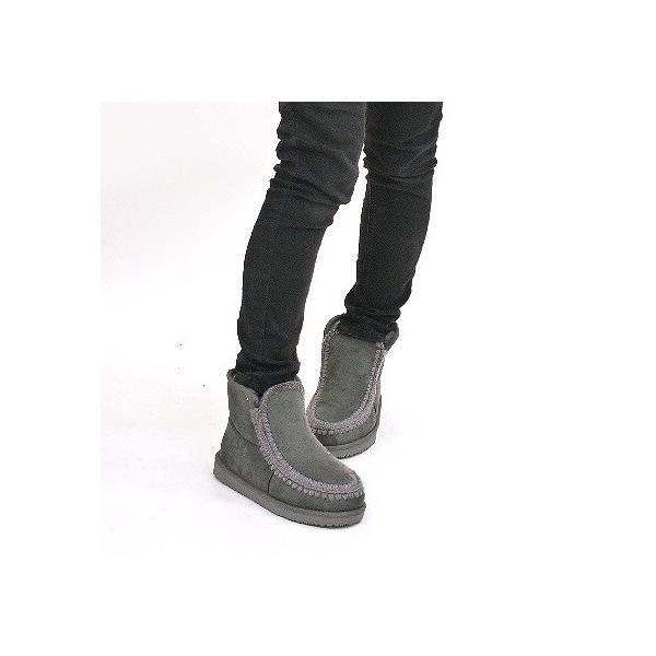 ムートンブーツ 靴 レディース 歩きやすい モカシン フラット 内ボア 暖かい|antelope|05