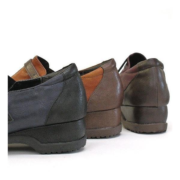 コンフォートシューズ バイカラー スリッポンシューズ 靴 レディース 歩きやすい