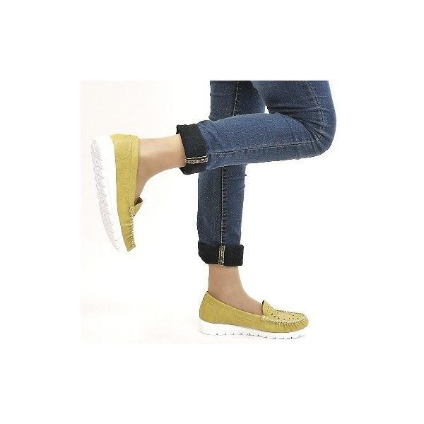 モカシンシューズ 靴 レディース 歩きやすい 軽量 パンチング