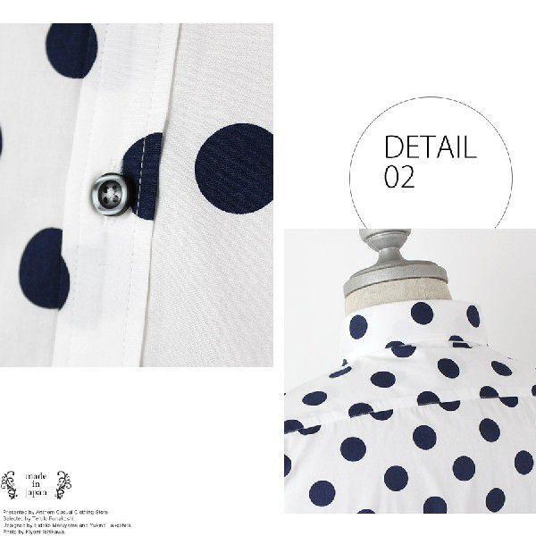 全9色 日本製 ドット プリント ボタンダウン シャツ メンズ ゆうパケットで送料無料 s-m|anthem|05