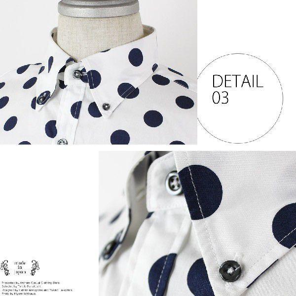 全9色 日本製 ドット プリント ボタンダウン シャツ メンズ ゆうパケットで送料無料 s-m|anthem|06
