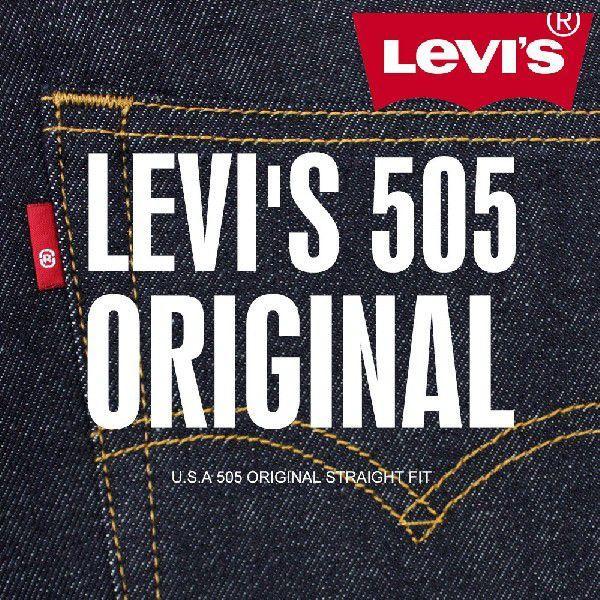 リーバイス LEVI'S 505 オリジナル ジップフライ ストレート ジーンズ ワンウォッシュ 505-0216 ONEWASH USAライン levis|anthem