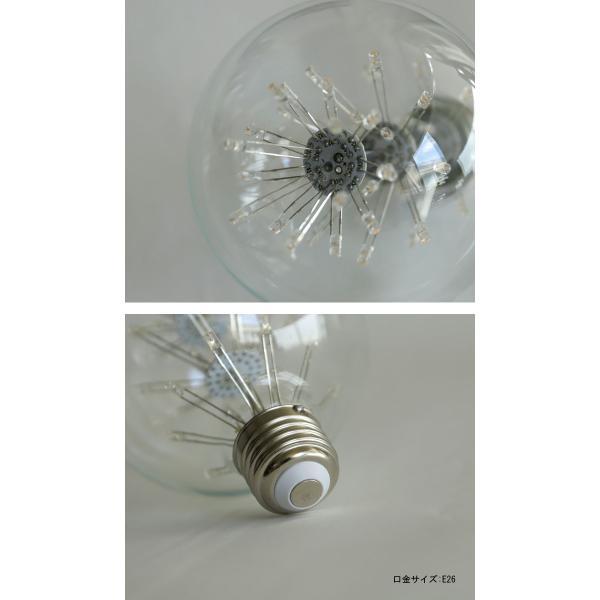 LED 電球 E26 2W 花火電球 照明 ライト 装飾 花火 プレゼント アンティカフェ|antiqcafe|06