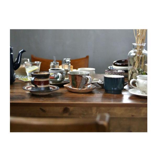 大人気の為、再入荷!木村二色流し十草コーヒー碗皿 カップ&ソーサー  taw|antiqcafe|13
