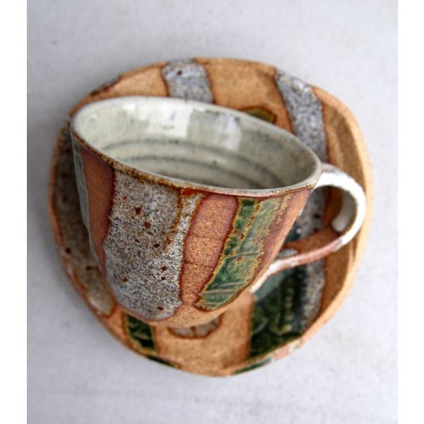 大人気の為、再入荷!木村二色流し十草コーヒー碗皿 カップ&ソーサー  taw|antiqcafe|16