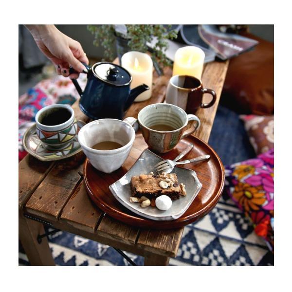 大人気の為、再入荷!木村二色流し十草コーヒー碗皿 カップ&ソーサー  taw|antiqcafe|17