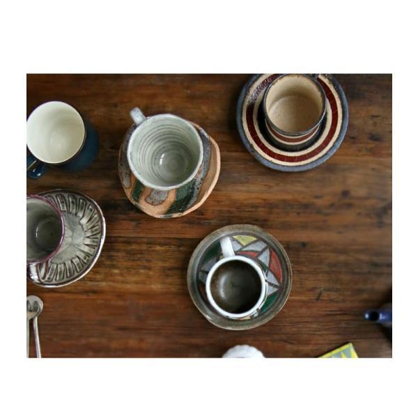 大人気の為、再入荷!木村二色流し十草コーヒー碗皿 カップ&ソーサー  taw|antiqcafe|19