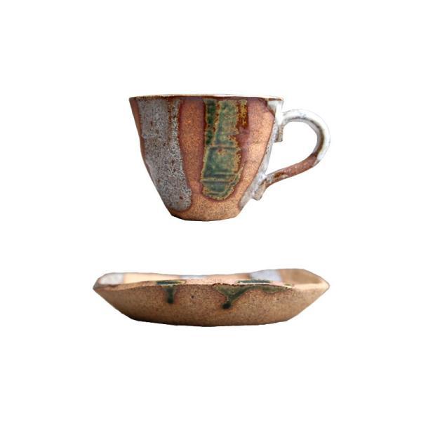 大人気の為、再入荷!木村二色流し十草コーヒー碗皿 カップ&ソーサー  taw|antiqcafe|20