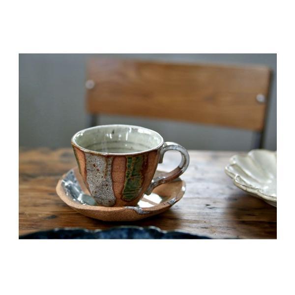 大人気の為、再入荷!木村二色流し十草コーヒー碗皿 カップ&ソーサー  taw|antiqcafe|04