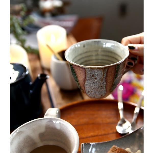 大人気の為、再入荷!木村二色流し十草コーヒー碗皿 カップ&ソーサー  taw|antiqcafe|05