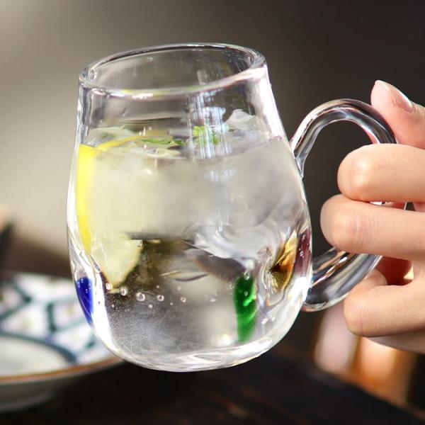 【ガラス/グラス】水玉マグカップ アンティーク ヴィンテージ オシャレ食器 CAFE モダン レトロ 北欧 お洒落 アンティカフェ taw|antiqcafe