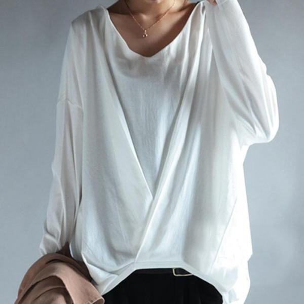 一枚で抜け感スタイル。裾タックドレープトップス・再再販。『拘りの前裾タックがお洒落の決め手。』「G」##×メール便不可!