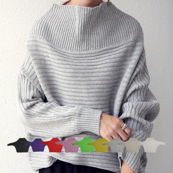 横リブの立体感、綿の風合いの良さに惚れ。ドルマンニットトップス・1月9日20時~再再販。##×メール便不可!
