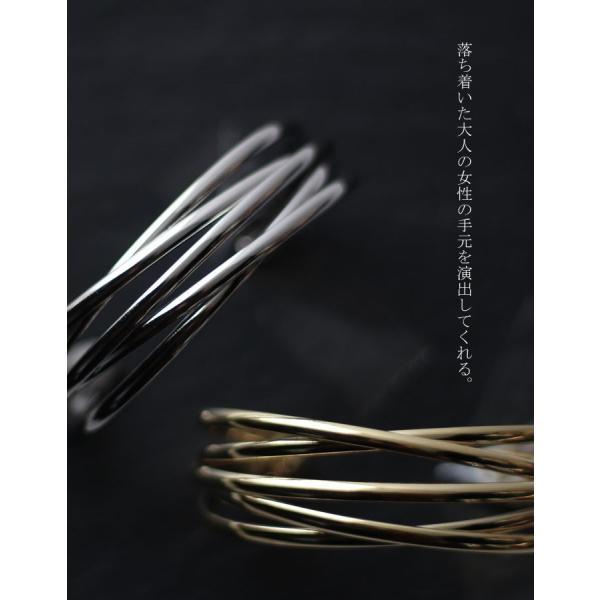 アクセ バングル ブレスレット レディース レイヤード風バングル・2月9日20時〜発売。(80)メール便可