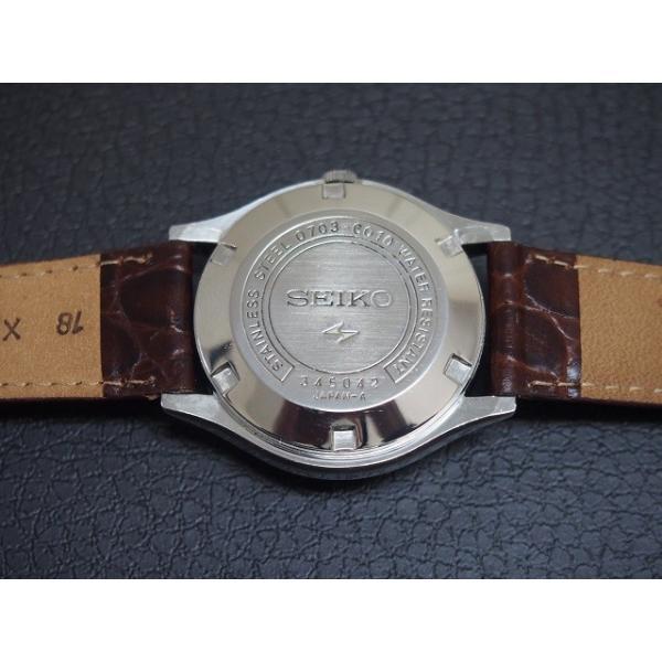 SEIKO エルニクス ブルー ELNIX 0703-6010 電子テンプ 昭和レトロ ビンテージウォッチ
