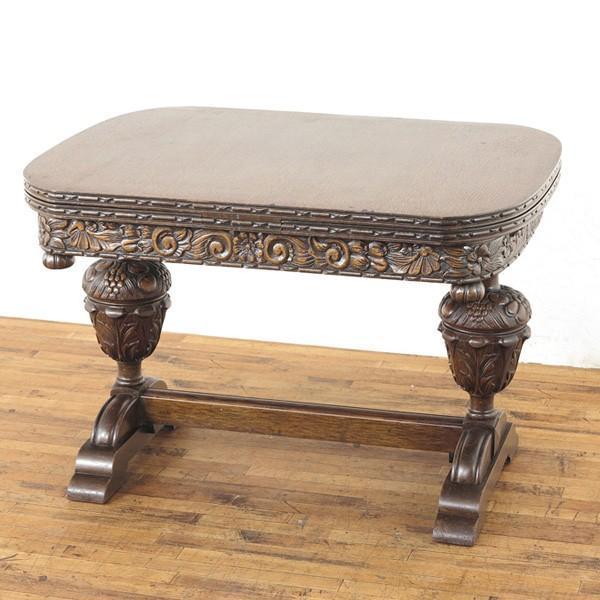 ブルボーズレッグドローリーフテーブル