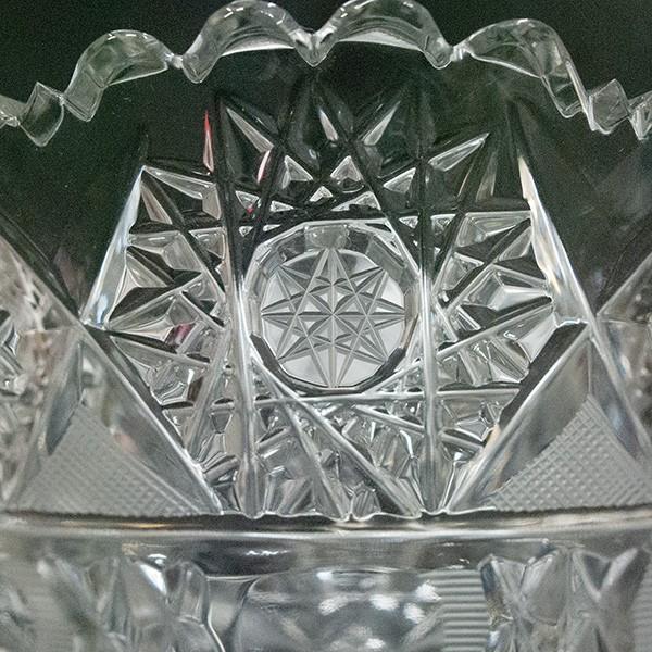 ボヘミアガラス チェコ製 クリスタル 花瓶|antiquesjikoh|03