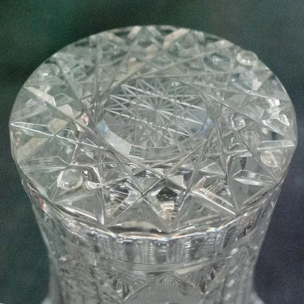 ボヘミアガラス チェコ製 クリスタル 花瓶|antiquesjikoh|04