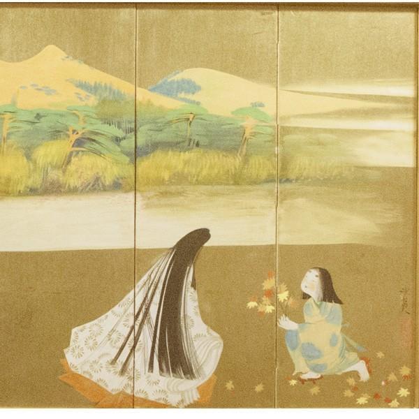 森田沙伊 日本画 横額 タトウ付 絵画 額装|antiquesjikoh|03