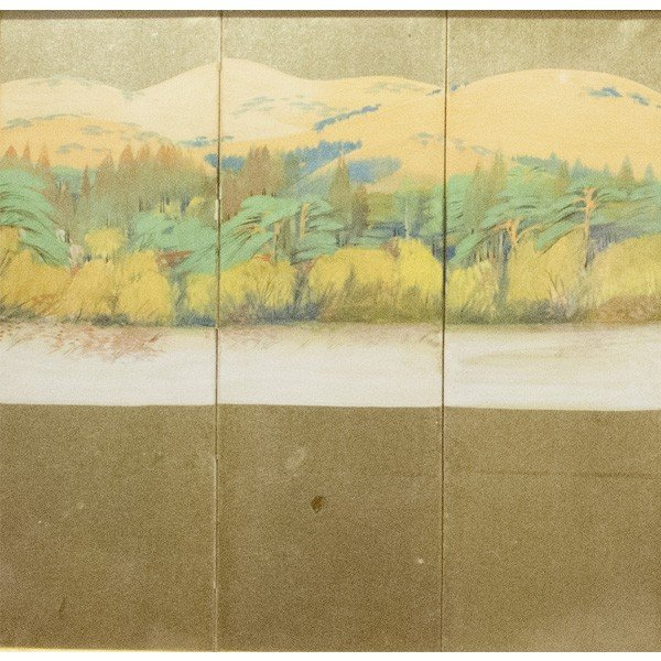 森田沙伊 日本画 横額 タトウ付 絵画 額装|antiquesjikoh|04