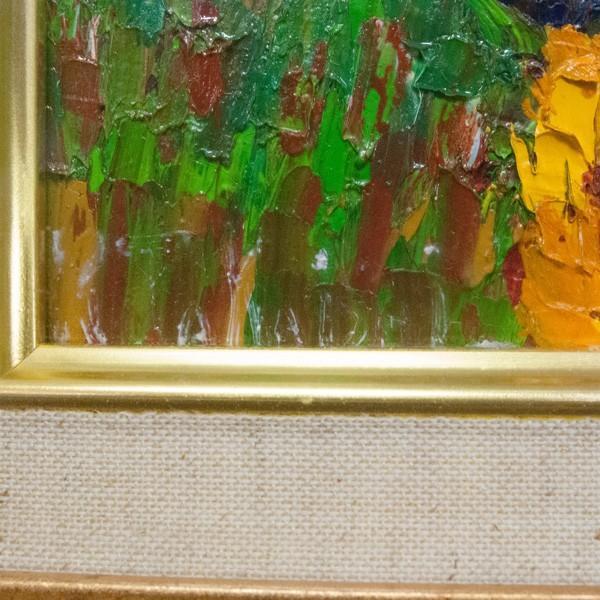 高石国夫 「赤い富士の山」(芦ノ湖) 油彩 F4|antiquesjikoh|03