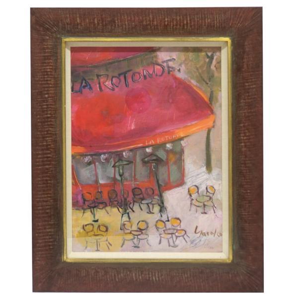 山岡康子 「LA RUTONDE」 油彩画 F4号 p-115|antiquesjikoh