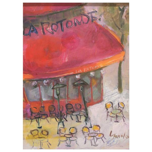 山岡康子 「LA RUTONDE」 油彩画 F4号 p-115|antiquesjikoh|02