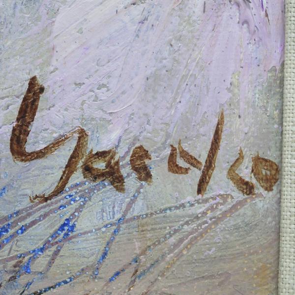 山岡康子 「LA RUTONDE」 油彩画 F4号 p-115|antiquesjikoh|03