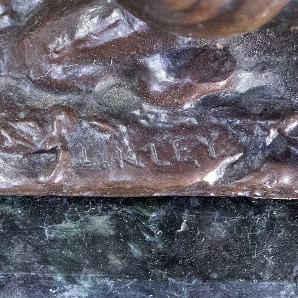 L.Kley 「カタツムリに乗る少年」ブロンズ像|antiquesjikoh|06