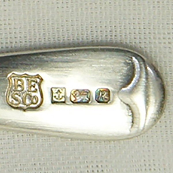 ソルトディッシュ、キャビア入れ、スプーンセット 銀製  英国|antiquesjikoh|11
