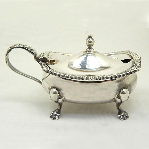 ソルトディッシュ、キャビア入れ、スプーンセット 銀製  英国|antiquesjikoh|05