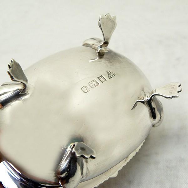 ソルトディッシュ、キャビア入れ、スプーンセット 銀製  英国|antiquesjikoh|08