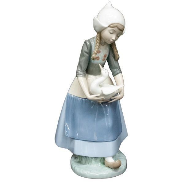 リヤドロ (lladro) フィギュリン 少女とアヒル 5066|antiquesjikoh