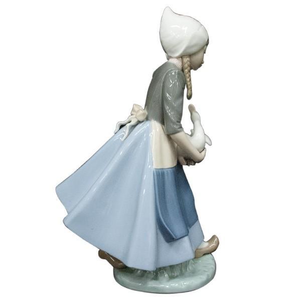 リヤドロ (lladro) フィギュリン 少女とアヒル 5066|antiquesjikoh|02