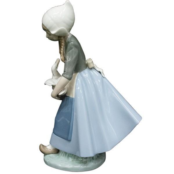 リヤドロ (lladro) フィギュリン 少女とアヒル 5066|antiquesjikoh|04