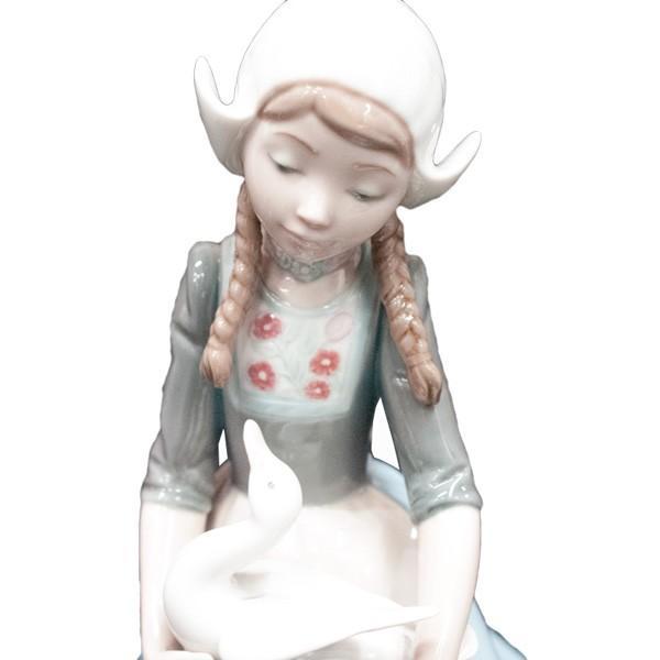 リヤドロ (lladro) フィギュリン 少女とアヒル 5066|antiquesjikoh|05