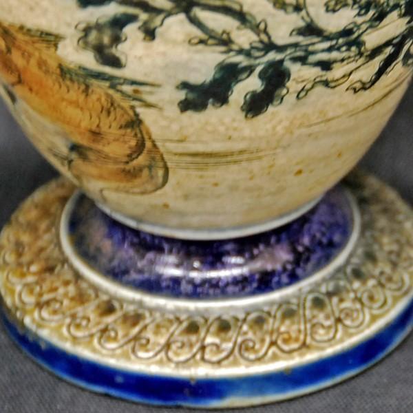R.W.Martin Brothers 花瓶 「魚、水草模様」 1889年|antiquesjikoh|04
