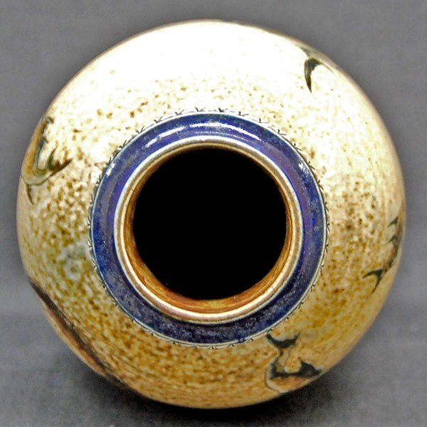 R.W.Martin Brothers 花瓶 「魚、水草模様」 1889年|antiquesjikoh|05