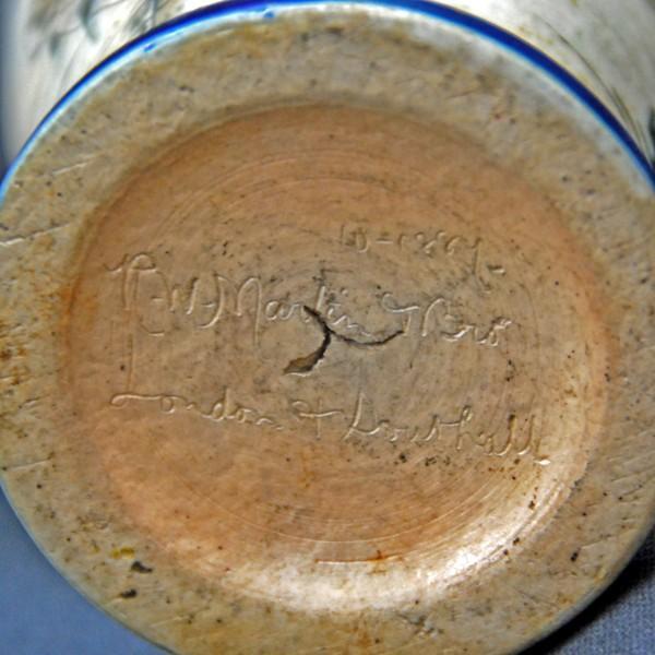 R.W.Martin Brothers 花瓶 「魚、水草模様」 1889年|antiquesjikoh|06