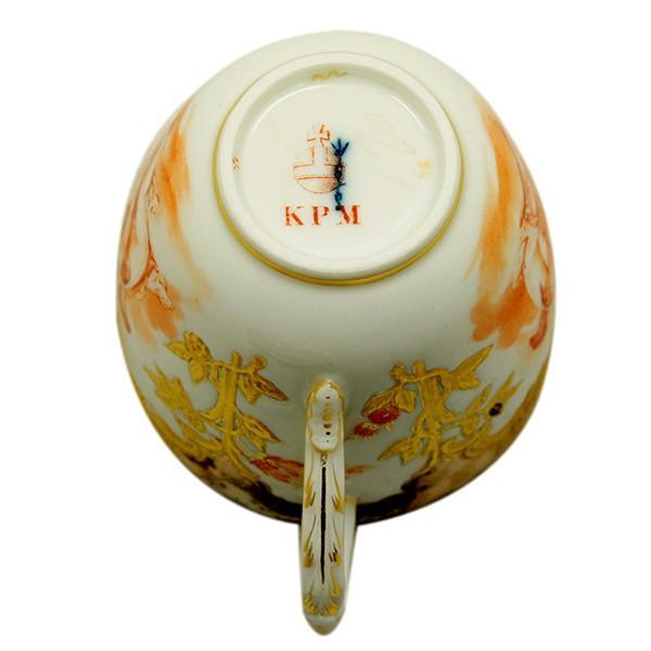 KPM ベルリン王立磁器製陶所 金彩カップ&ソーサー  |antiquesjikoh|07