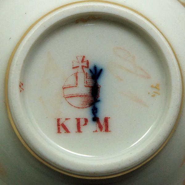 KPM ベルリン王立磁器製陶所 金彩カップ&ソーサー  |antiquesjikoh|08