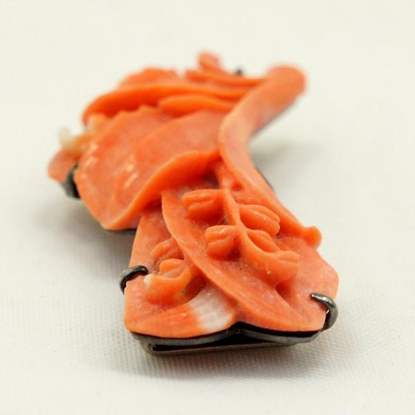 帯留 赤珊瑚 鈴蘭 |antiquesjikoh|03