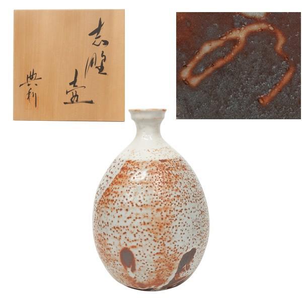 高木典利 「志野壺」 花器 花瓶 共箱|antiquesjikoh