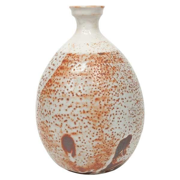 高木典利 「志野壺」 花器 花瓶 共箱|antiquesjikoh|02