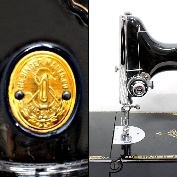 シンガーミシン アンティーク 電動式 稼働品|antiquesjikoh|04