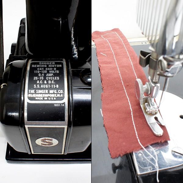 シンガーミシン アンティーク 電動式 稼働品|antiquesjikoh|05