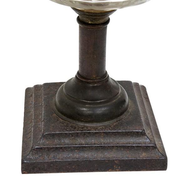 大正ロマン オイルランプ フロストガラス 日本製 アンティーク|antiquesjikoh|04