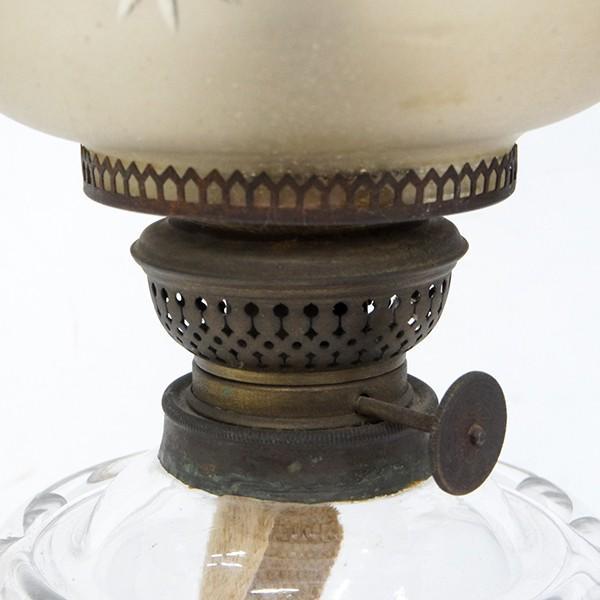 大正ロマン オイルランプ フロストガラス 日本製 アンティーク|antiquesjikoh|05