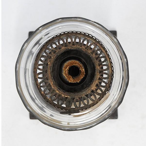 大正ロマン オイルランプ フロストガラス 日本製 アンティーク|antiquesjikoh|09